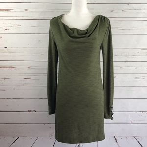 Anthropologie Pure + Good Olive Cowl Neck Tunic XS